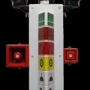 SLC7, SLC5 and SLC3 Signal Light Column SELCO USA
