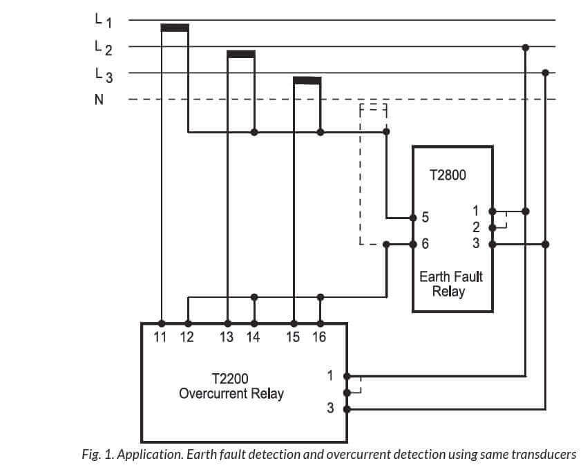 Wiring Diagram Of Earth Fault Relay : T overcurrent or ground fault relay
