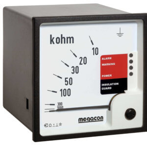 KPM161 Insulation Monitor, System Voltage up to 500VAC, Output Relays, Optional Analog Output